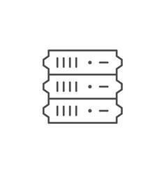 server equipment line outline icon vector image