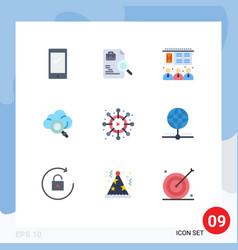 Set 9 modern ui icons symbols signs for viral vector