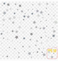 Silver falling confetti stars luxury festive vector