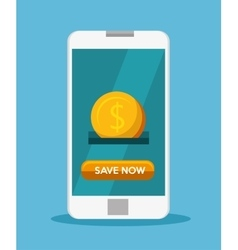 Smart phone save money aplication vector