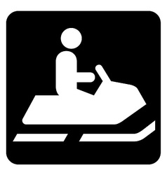 Snow Mobile Icon vector image
