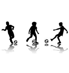 soccer kids vector image