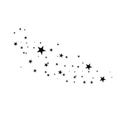 Stars on a white background black star shooting vector