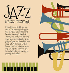 Template for jazz concert poster or flyer vector