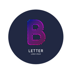 the letter b latin alphabet display vector image