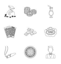 The set of symbols casino games gambling for vector