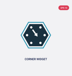 Two color corner widget icon from user interface vector