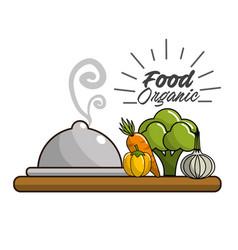 Vegan food icon stock vector