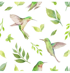 Watercolor seamless pattern with vector