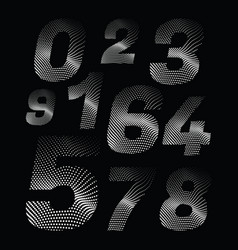 wave dotted numbers in retro style vector image