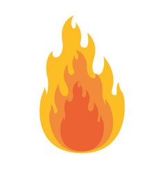 white background with flame in closeup vector image