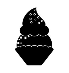 Women day cupcake dessert sweet pictogram vector
