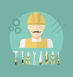 working man vector image