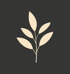 flat in black and white mobile application leaf vector image