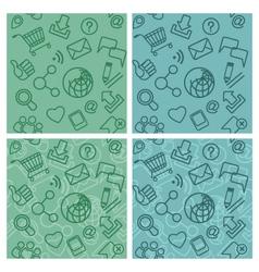 Internet communication patterns vector
