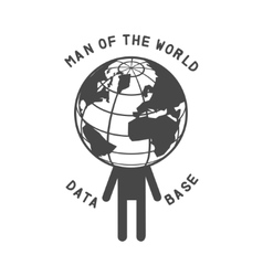 man of the world vector image