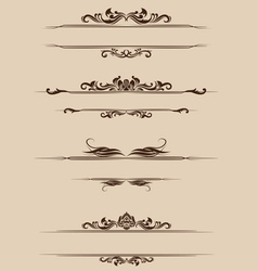 Ornament Border Set vector image vector image