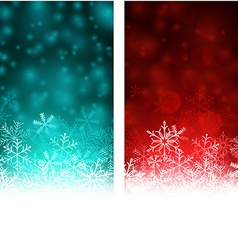 Christmas abstract banners vector image vector image