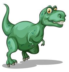Green tyrannosaurus rex standing vector image