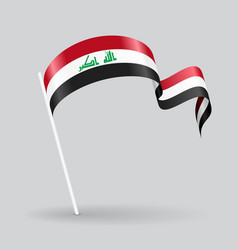 Iraqi wavy flag vector