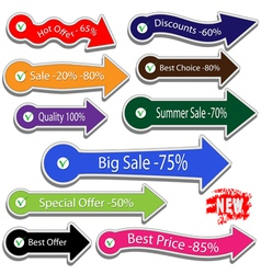 Arrows for sale vector image
