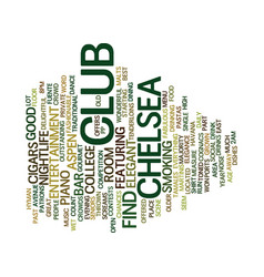 Aspen nightlife club chelsea text background word vector