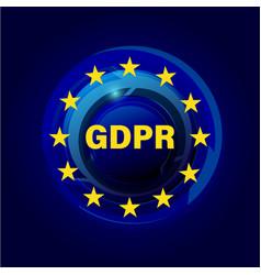 general data protection regulation gdpr vector image vector image
