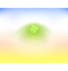 Irish Clover Leaf on light background vector image vector image
