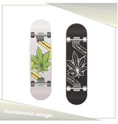 Medical marijuana skateboard one vector