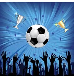 soccer championship background vector image