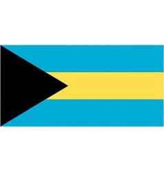 bahamian flag vector image