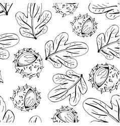 chestnut pattern vector image vector image