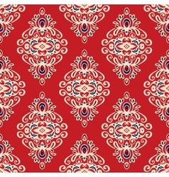 Damask seamless pattern florish vector image