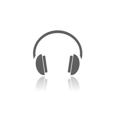 isolated headphones icon on a white background vector image vector image