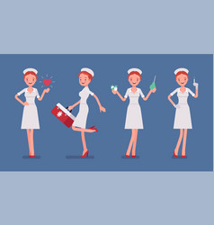 sexy nurse with treatment vector image