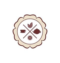tea icons set with lemon on white background vector image