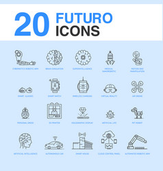 20 artificial intelligence icon pack vector