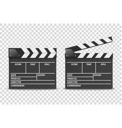 3d realistic blank closed and opened movie vector image
