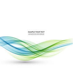 Abstract background blue green wavy vector