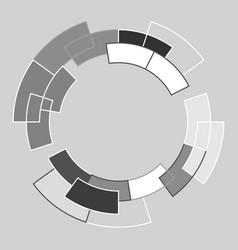 abstract circle lines vector image