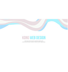 abstract header website banner modern style vector image