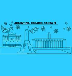 argentina rosario santa fe winter holidays vector image