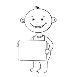 baby with sign vector image