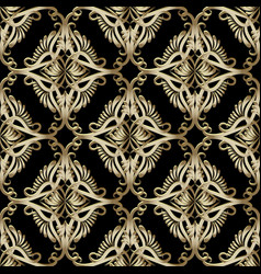 baroque seamless pattern ornamental damask vector image