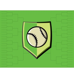 Baseball Icon Bracket vector image