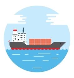 Big dry cargo ship image vector
