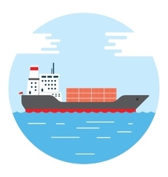 big dry cargo ship image vector image