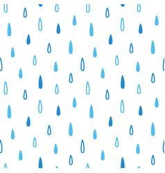 Blue raindrops rain seamless pattern background vector