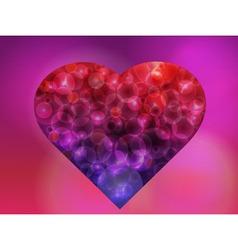 Bokeh heart vector image