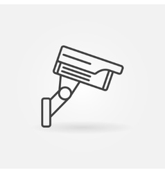 CCTV outline icon vector